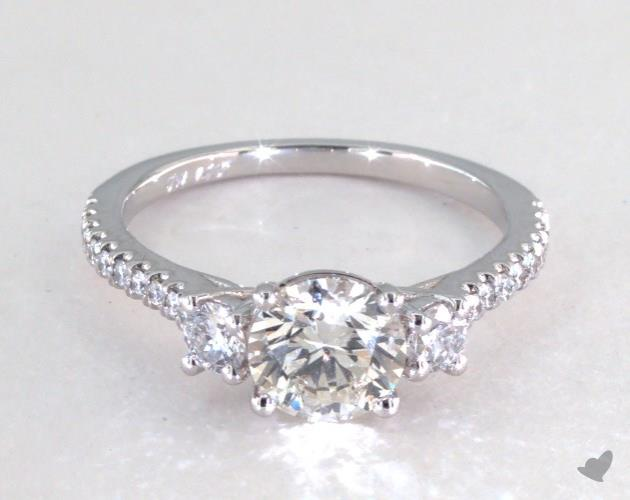 buying a one carat diamond ring - three stone engagement ring