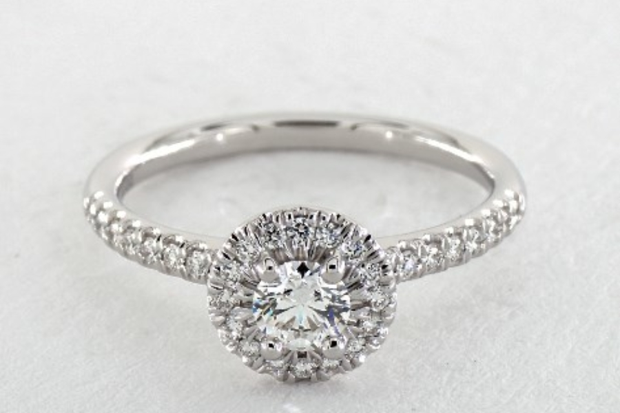 small diamond halo - engagement ring setting