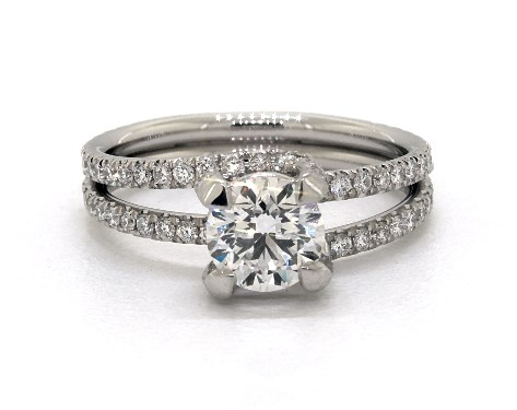 double band - engagement ring setting