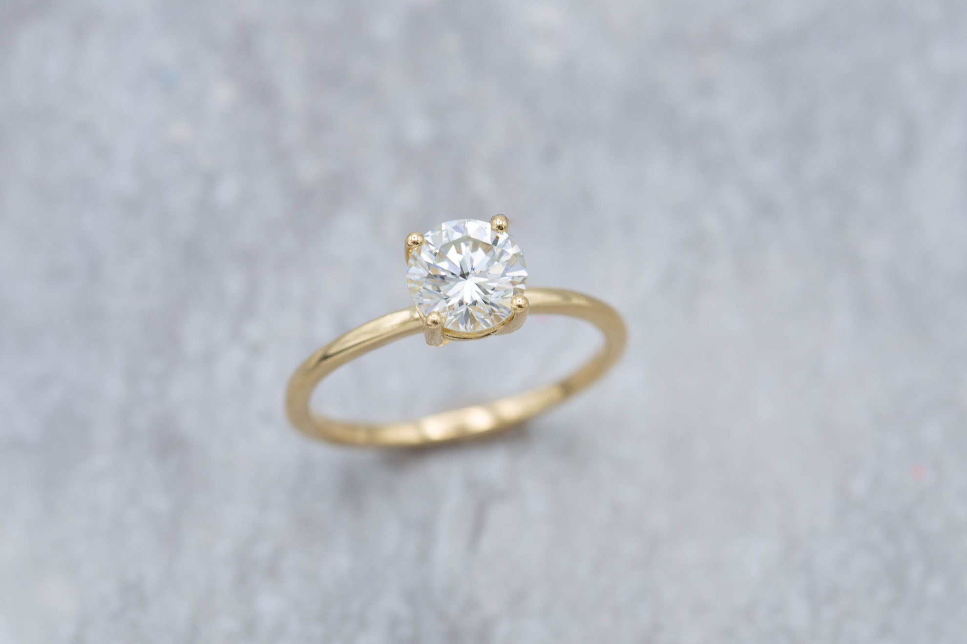 engagement ring settings - 0.91ct solitaire