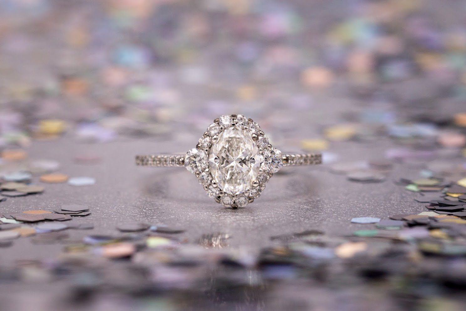 oval halo - engagement ring setting