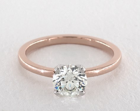 cushion-cut diamonds - round solitaire engagement ring