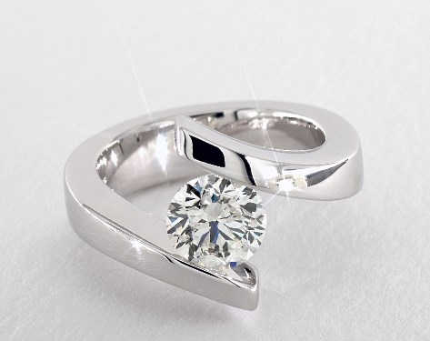 engagement ring setting - tension-set diamond