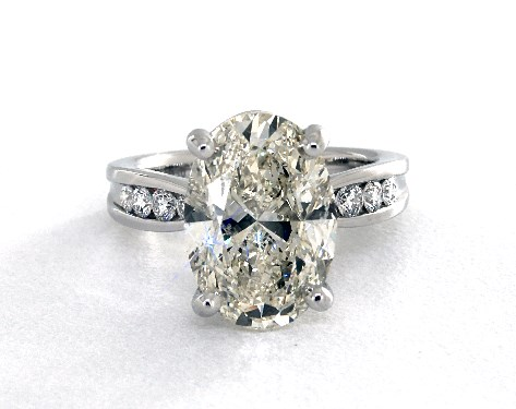 five-carat diamond guide - K color SI1 oval diamond engagement ring