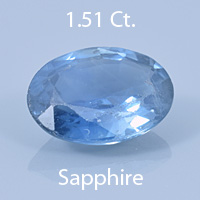 Fancy Angular Oval Cut Sapphire, Unknown, 1.00 Ct. cts