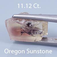 Antique Square Cushion Cut Sunstone, Dust Devil Mine, Oregon, U.S.A., 3.49 Ct. cts