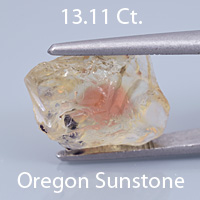 Fancy 10-sided Round Cut Sunstone, Dust Devil Mine, Oregon, U.S.A., 3.69 Ct. cts