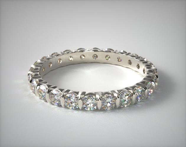 engagement ring settings - bar-set eternity band