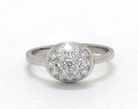 cluster - engagement ring setting