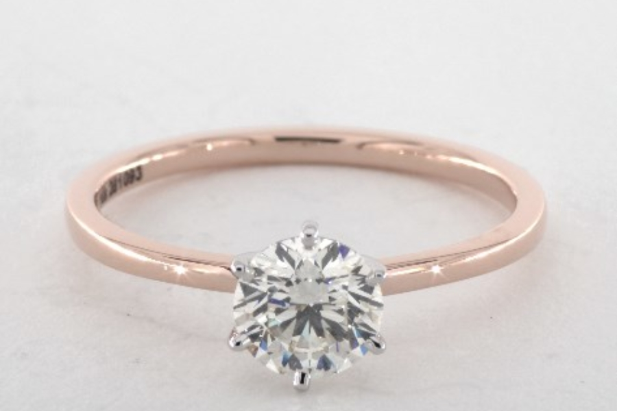 comfortable round band - engagement ring setting