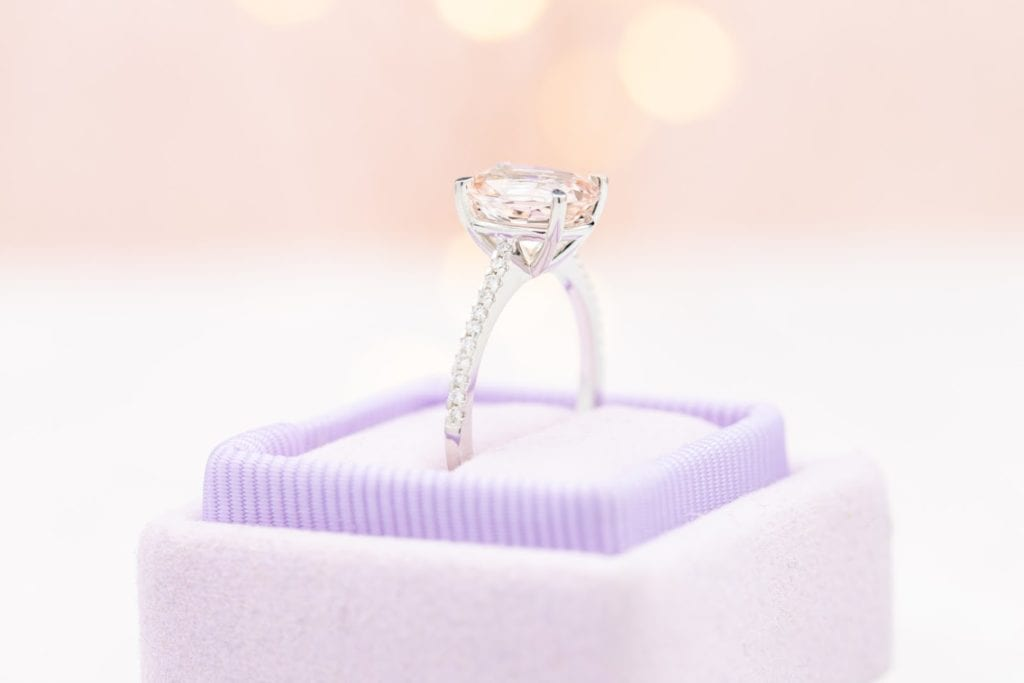 engagement ring setting - half-pave band