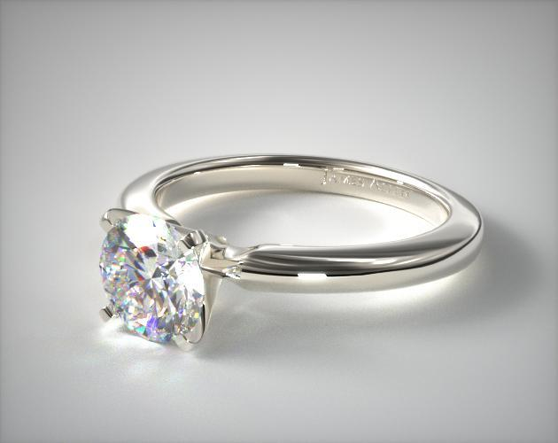 prong-set diamond solitaire - engagement ring setting