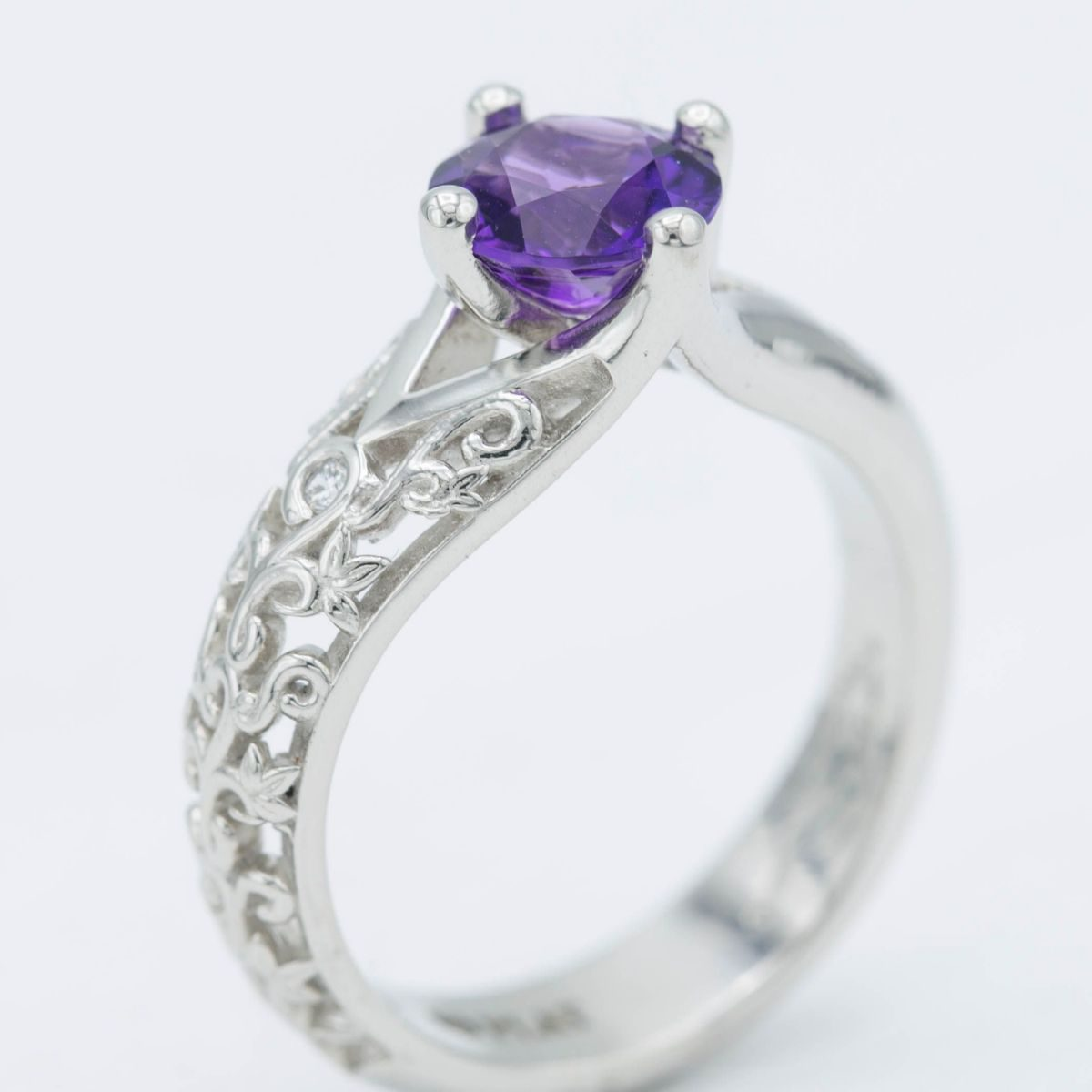 filigree and amethyst - engagement ring setting