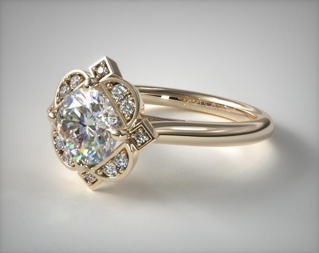 floral halo - engagement ring setting