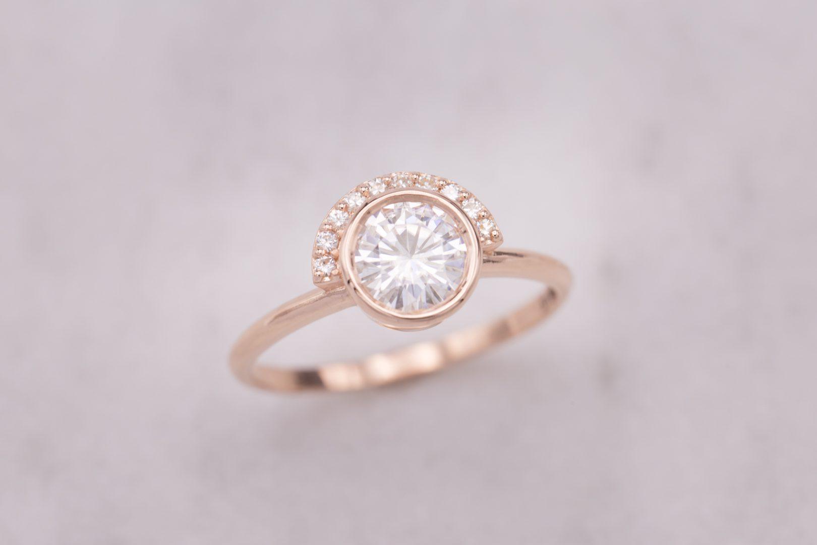 half halo - engagement ring setting