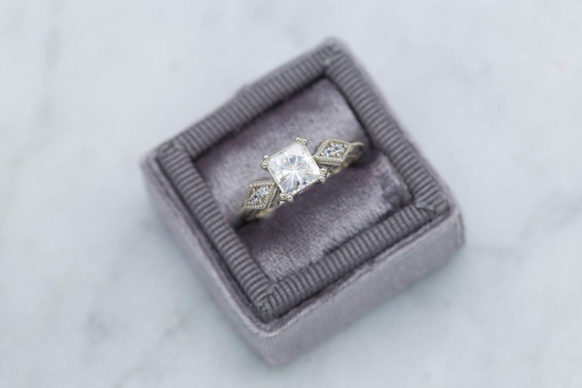 milgrain details - engagement ring setting