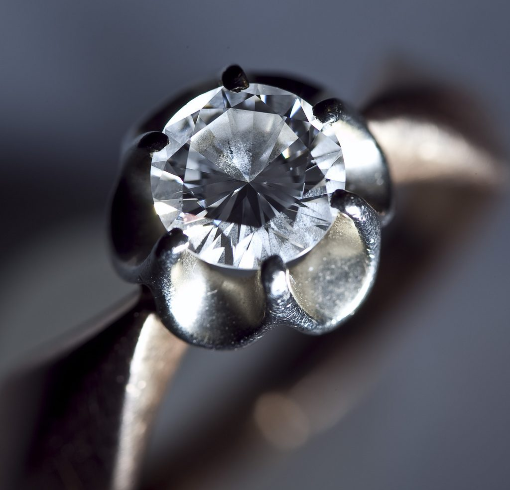 diamond certification - old diamond engagement ring