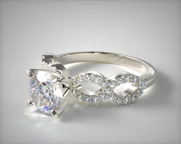 pave infinity band - engagement ring setting