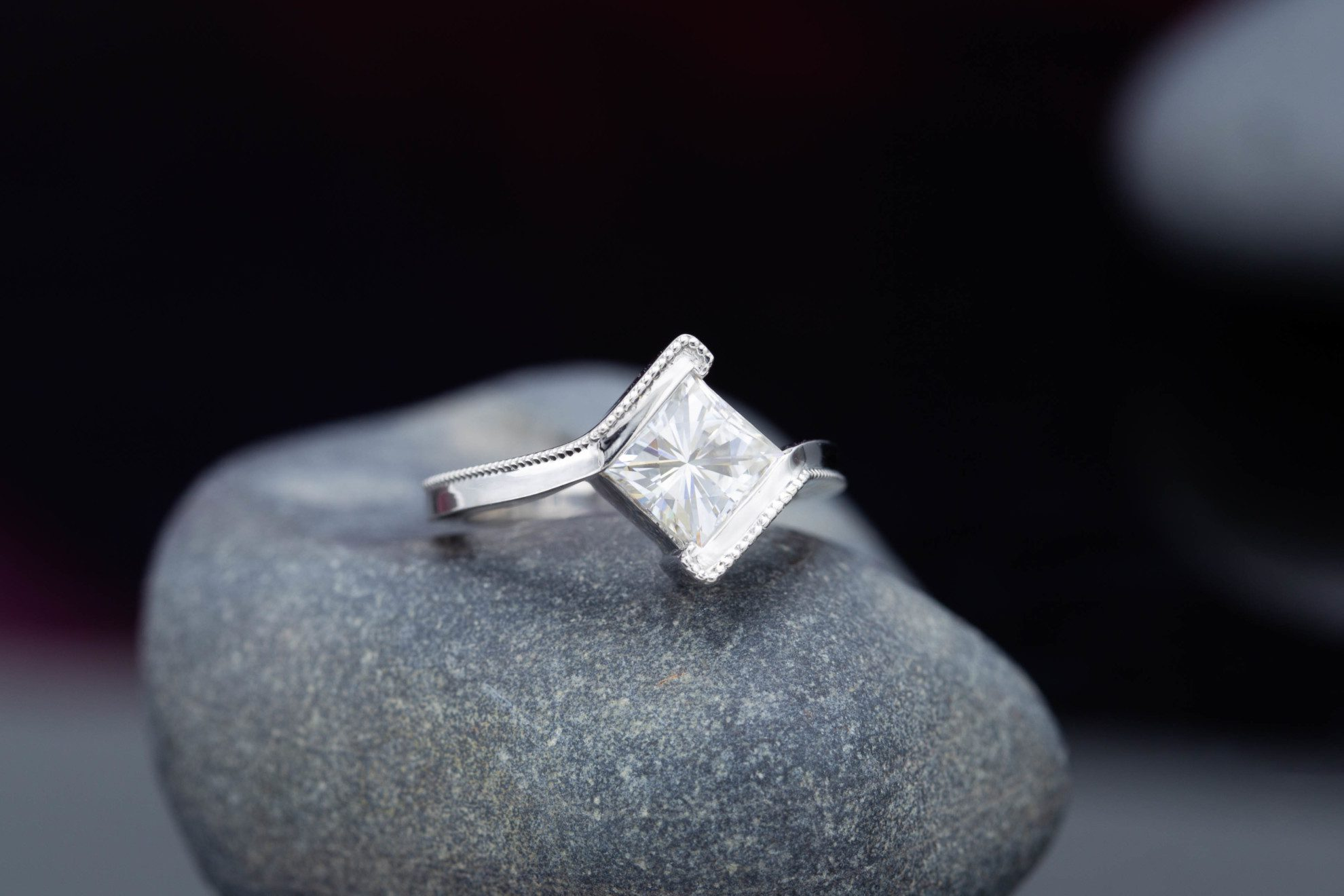 princess bypass - engagement ring setting