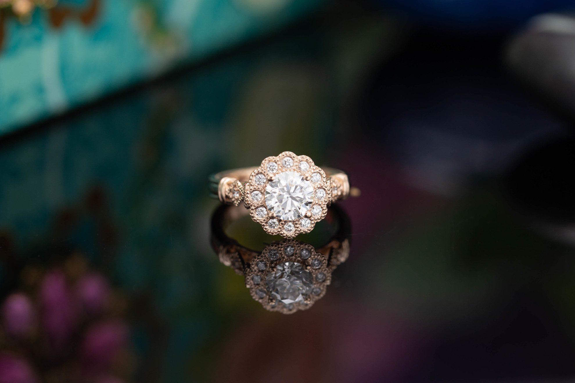 scalloped halo - engagement ring setting