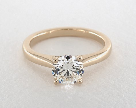 tapered band - engagement ring setting