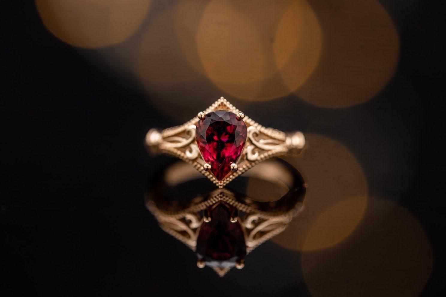 edwardian influence - engagement ring setting