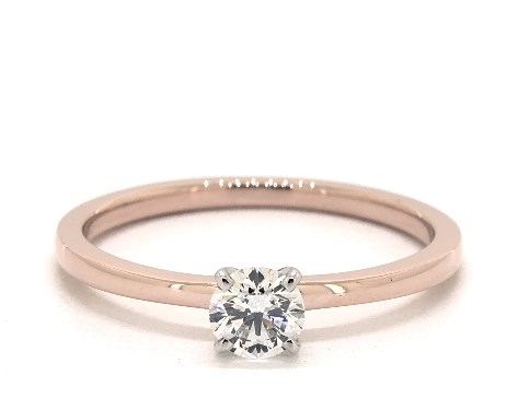 0.34 ct rose gold solitaire - what carat diamond should I choose