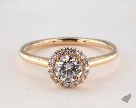 0.50ct yellow gold halo engagement ring - what carat diamond should I choose
