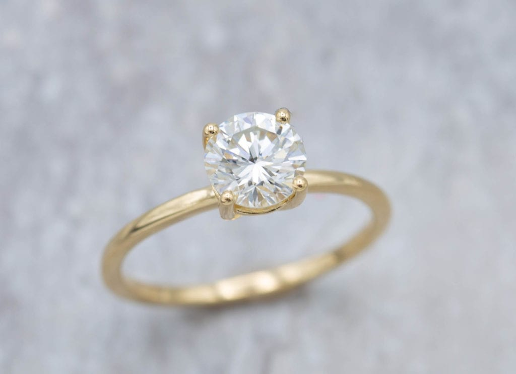 straight band - engagement ring setting