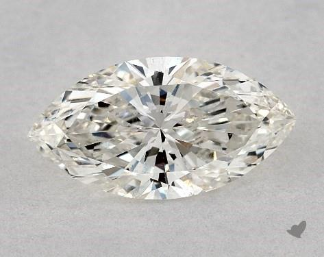 si2 eye-clean - marquise-cut diamonds