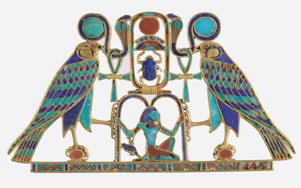 Egyptian pectoral jewelry - garnet symbolism and legends
