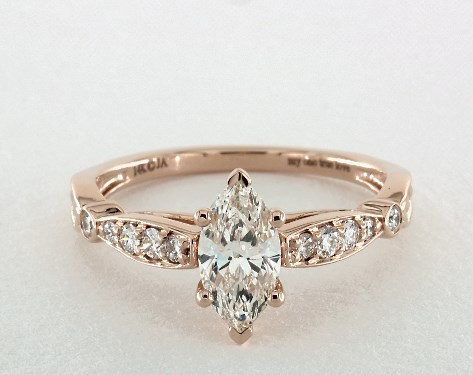 vintage engagement ring - marquise-cut diamonds
