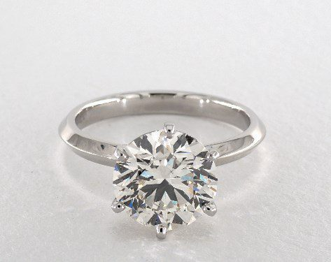 round solitaire engagement ring - three-carat diamond guide