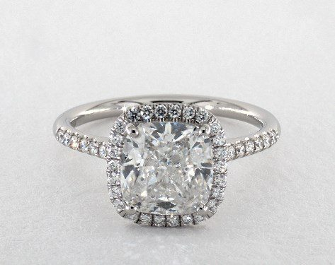 cushion-cut halo engagement ring - three-carat diamond guide