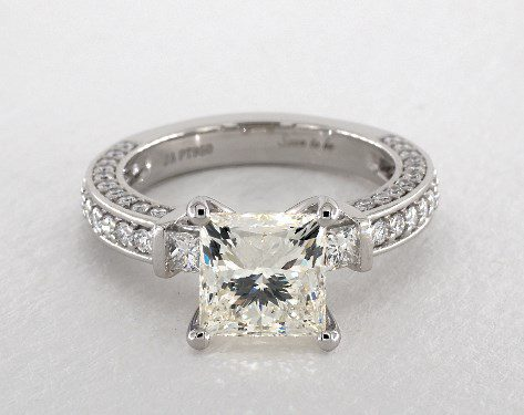 princess-cut engagement ring - three-carat diamond guide