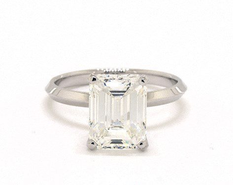 emerald-cut solitaire engagement ring - three-carat diamond guide