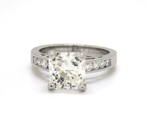 radiant-cut engagement ring - three-carat diamond guide