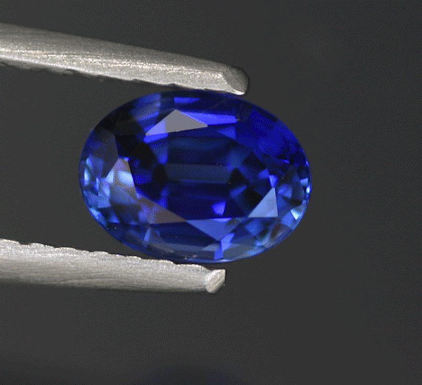 oval-cut sapphire, Sri Lanka