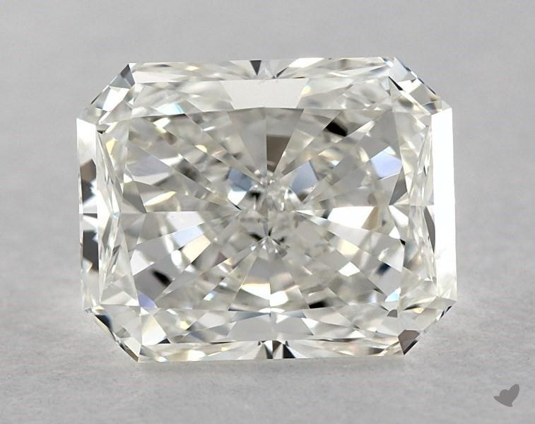 Moderately elongated - radiant-cut diamonds