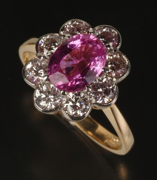 pink sapphire ring - classic engagement ring stones