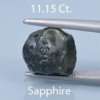 Barion Square Cut Sapphire, Australia, 4.64 cts