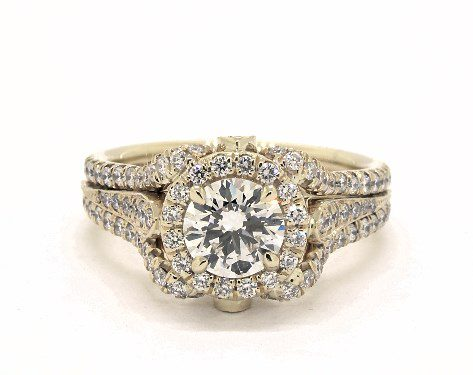 rows of diamonds - vintage engagement rings