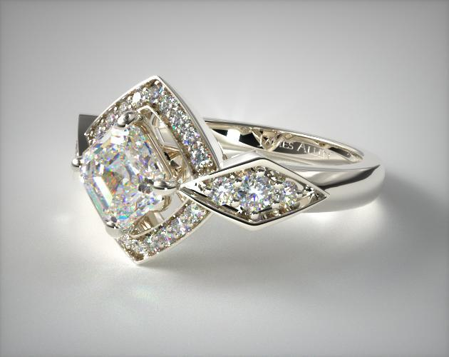 art deco geometric design - vintage engagement rings