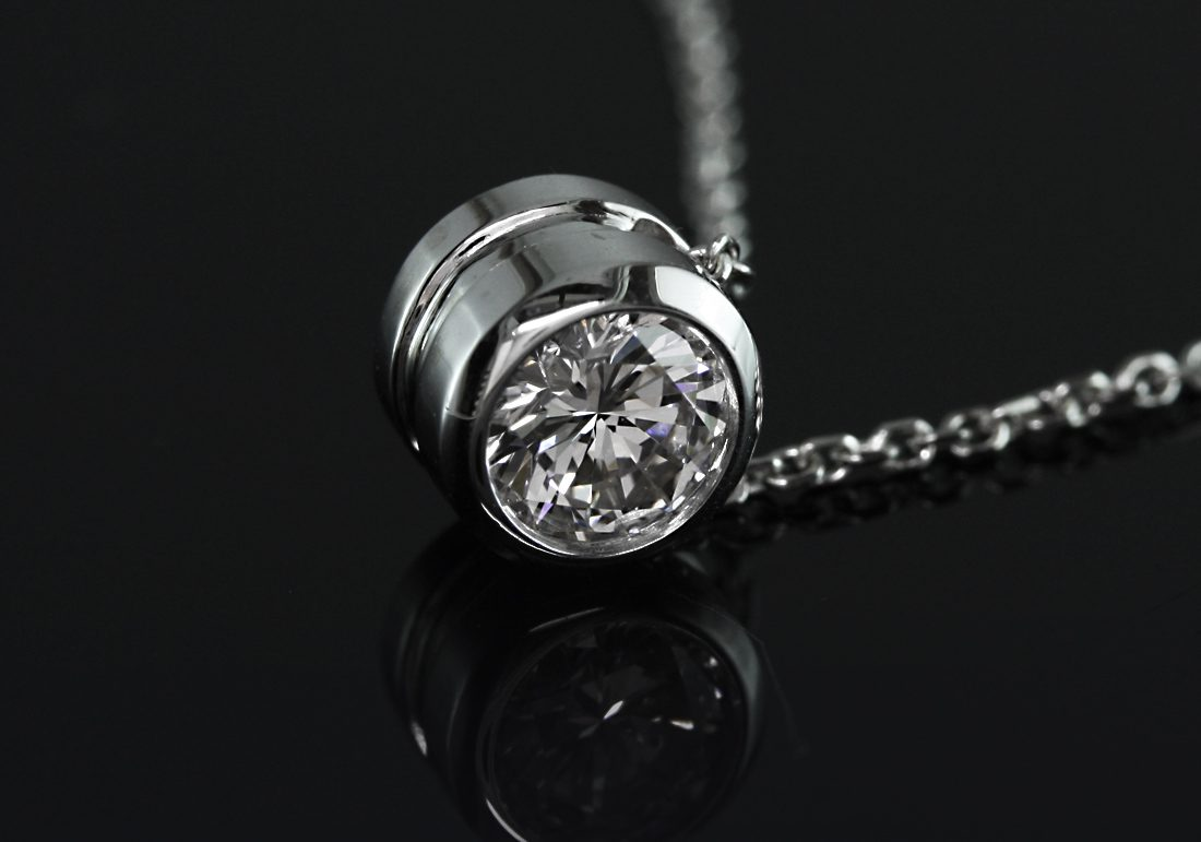 bezel-set diamond necklace - what carat diamond should I choose