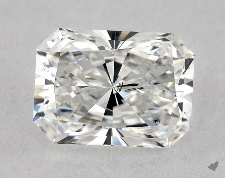 SI1 not eye-clean - radiant-cut diamonds