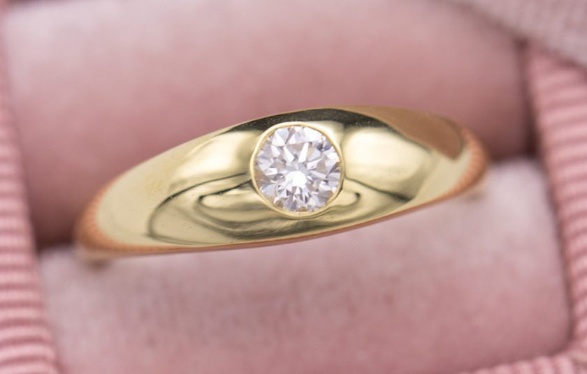 flush-set diamond - engagement ring setting