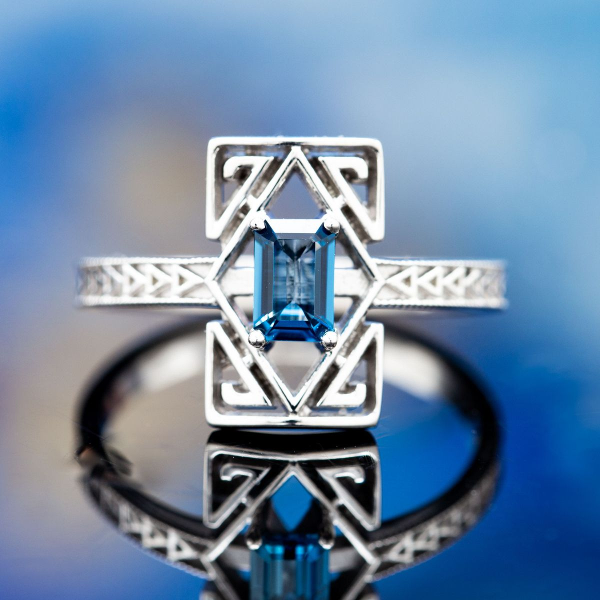 open design art deco - vintage engagement rings