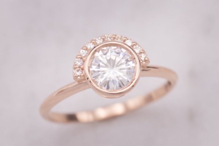 half-halo - engagement ring setting