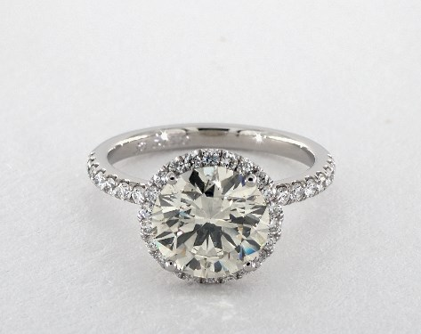 K VS2 in platinum engagement ring - two-carat diamond ring guide