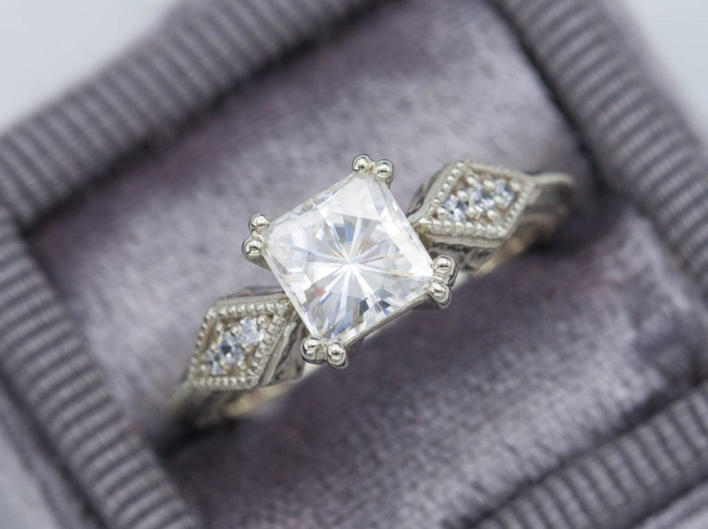 milgrain - engagement ring setting